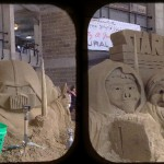 """Star Boars"" sand sculpture in the Cultural Center"